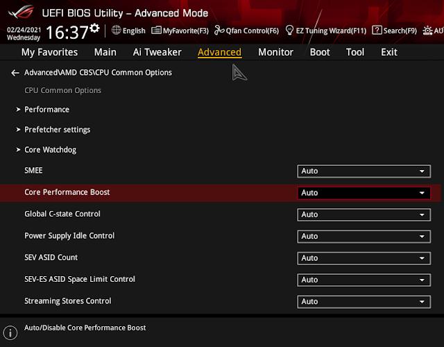 "MENOS CONSUMO EN AMD RYZEN 5 5600X ""CORE PERFORMANCE BOOST"""