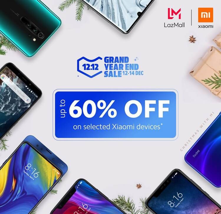 Xiaomi Offers up to 60% Discount at Lazada 12.12