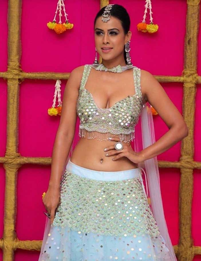 Nia Sharma Hot and Sexy Cleavage and big boobs