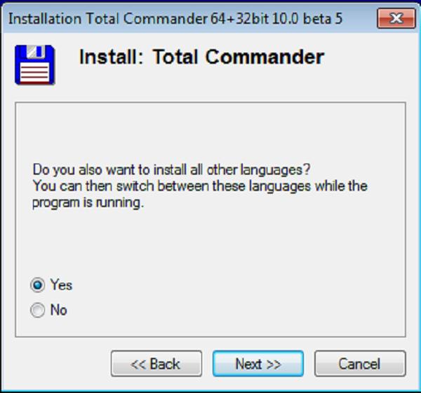 Hướng dẫn cài đặt phần mềm Total Commander 10.0 b