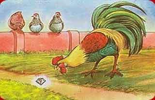 Cuento clasico: El gallo y la joya