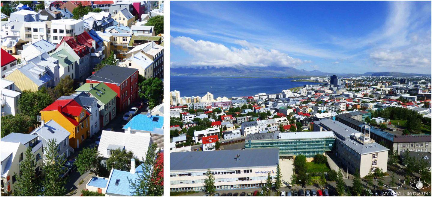My Travel Background : que voir à Reykjavik? Visiter la ville en 1 jour, les essentiels - Vue depuis l'Eglise Hallgrimskirkja