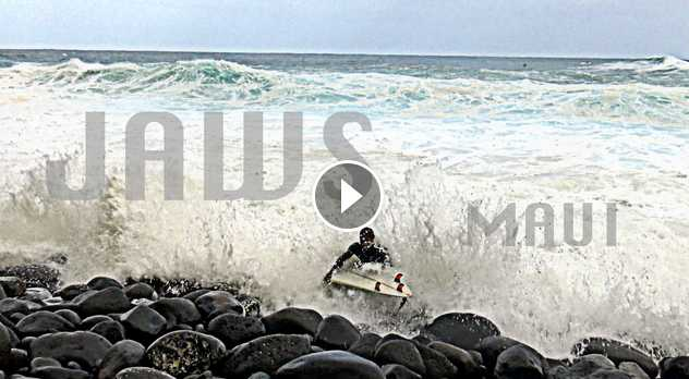 Trouble Getting Out at Jaws Maui