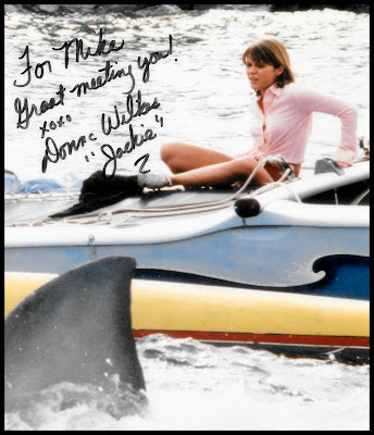 "Actress Donna Wilkes autograph for Mike ""Jack"" Kearney, from JAWS 2"