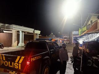 Anggota Polsek Alla Laksanakan Patroli Malam Hari Guna Cegah Kerawanan
