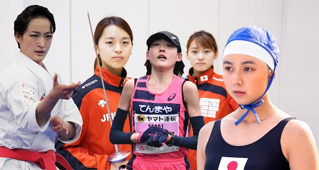 Японки-спортсменки, хотя и не комсомолки, но просто красавицы, ждут Летнюю Олимпиаду [фотоколлаж]