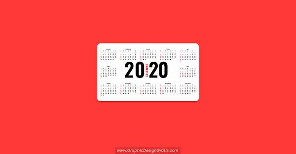 Calendario simples 2020 para descargar