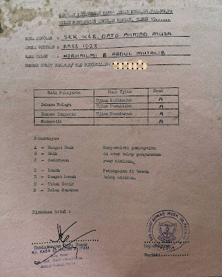 Isu Mansuh UPSR; Ini Kenangan Manis Saya Ambil UPSR Tahun 1993 Dulu..