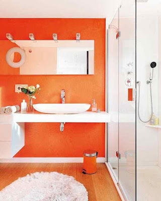 Bathroom+Paint+Ideas-Orange