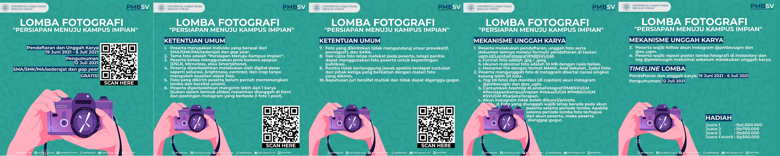 Lomba Fotografi Berhadiah Uang Tunai Jutaan Rupiah oleh PMBSV Universitas Gadjah Mada