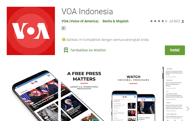 Aplikasi Berita VOA Indonesia