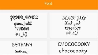 Modificare Font
