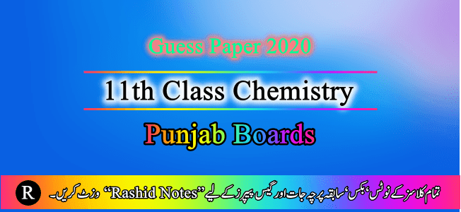 1st Year Guess Paper 2020 Punjab Boards