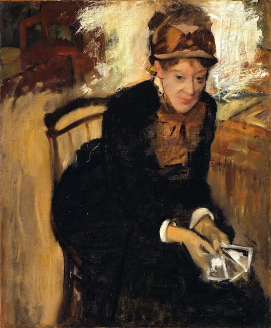 Эдгар Дега - Портрет Мери Кассат (ок.1880-1884)