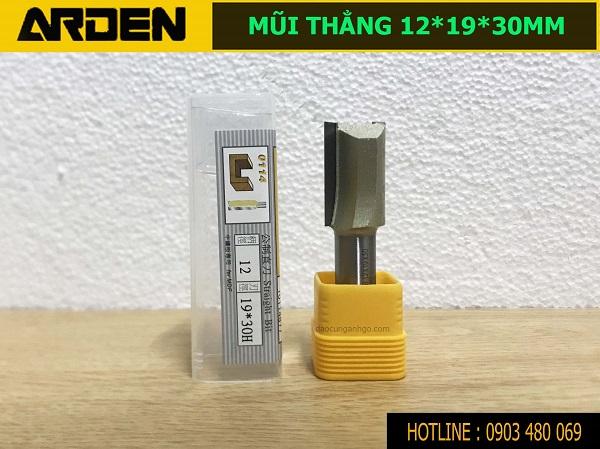 Mũi router lấy nền ARDEN 12x19x30mm