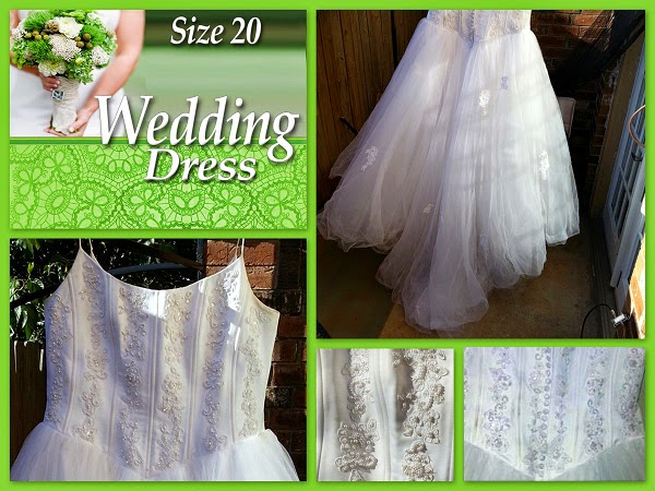 Size 20 Wedding dress (Oklahoma City Craigslist Garage Sale ) $99