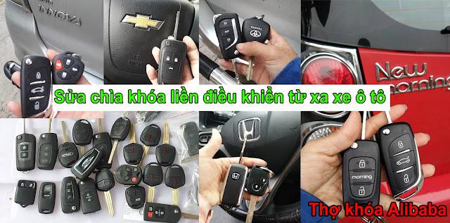 sửa chìa khóa liền điều khiển từ xa ô tô