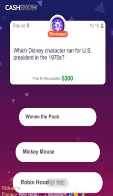 Cash Show Paid Trivia