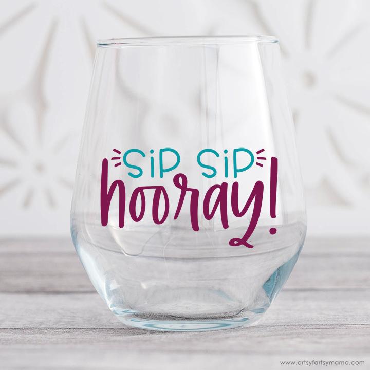 """""""Sip Sip Hooray"""" Free SVG Cut File"""