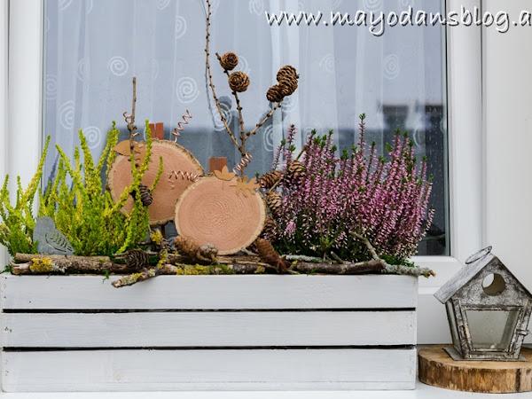 Schöne Dekoideen für Herbstfeeling beim Hauseingang