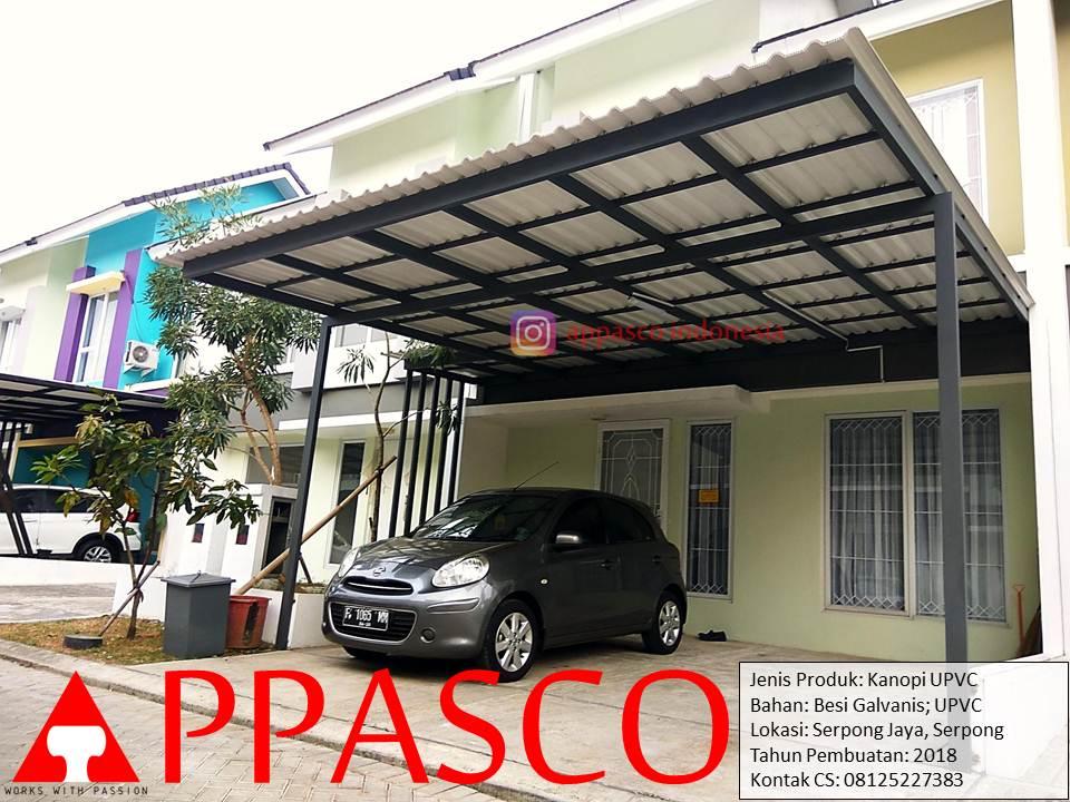 Kanopi Cantik Minimalis Modern Atap UPVC Keren di Serpong Jaya - Serpong BSD