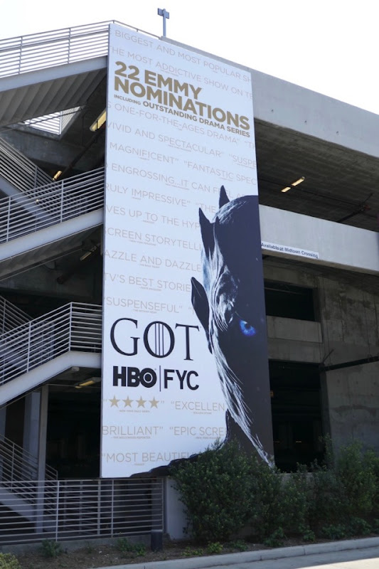 Game of Thrones HBO 2018 Emmy nominee billboard