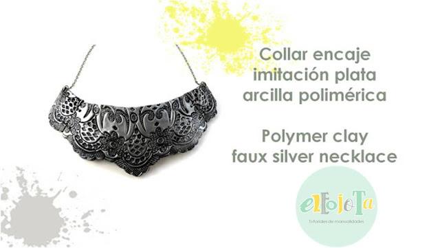 collar encaje arcilla polimerica