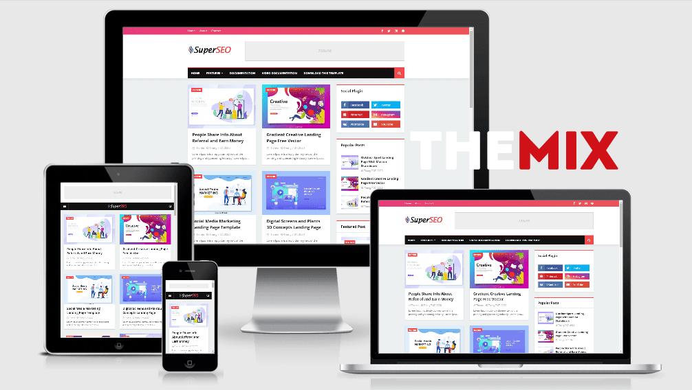 Chia sẻ Blogger Template Super SEO premium hoàn toàn miễn phí