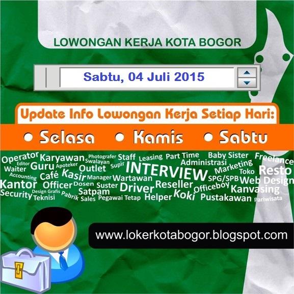 Dicari 5 Orang Lowongan Kerja Kota Bogor Loker Kota Bogor