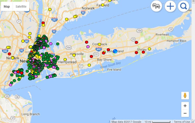 Long Island Dangerous Schools Map