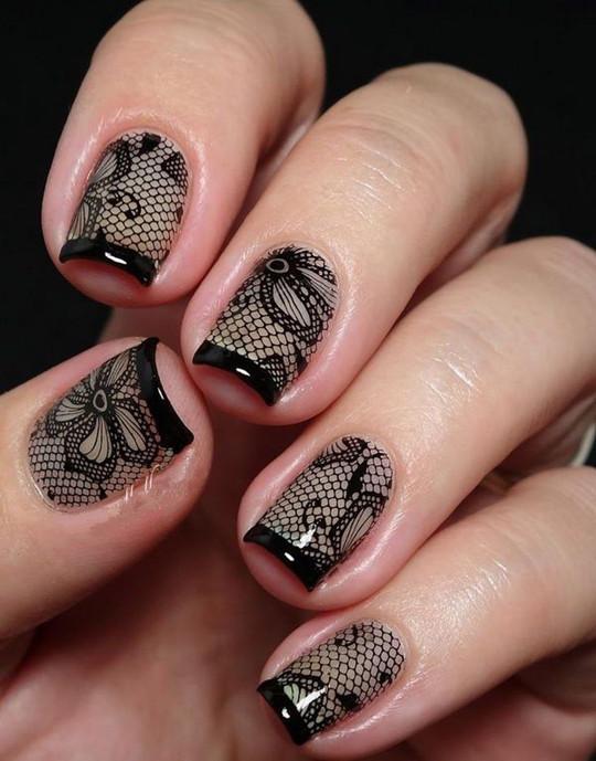 Black Bridal Nails!