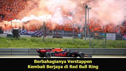 Berbahagianya Verstappen Kembali Berjaya di Red Bull Ring