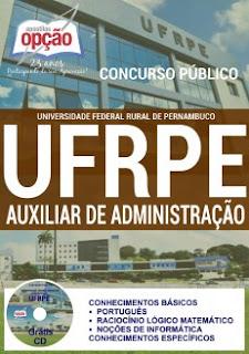 Apostila UFRPE 2016 cargos Auxiliar em Administração