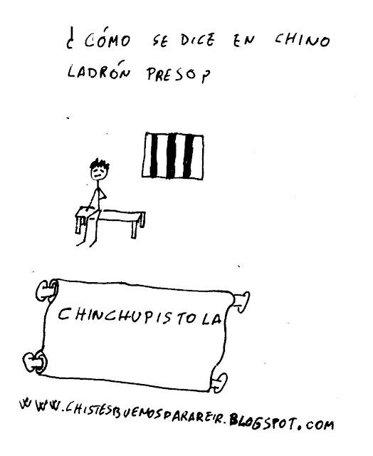¿Cómo se dice en chino ladrón preso? Chinchupistola