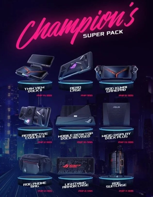 ASUS ROG Phone II Champion's Super Pack On Sale for Only Php29,995 (50% of its SRP)