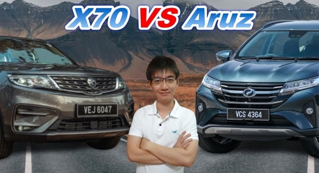 proton x70 vs perodua aruz suv 2021 which is best