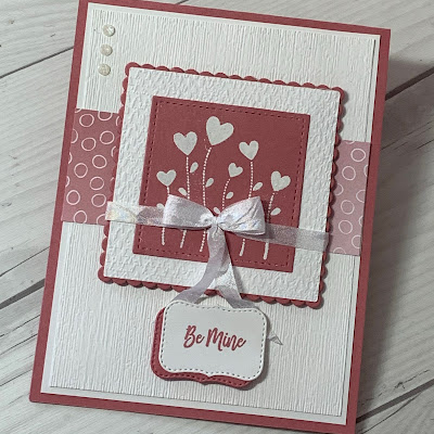 Valentine card using Stampin' Up! Valentine Keepsakes Stamp Set