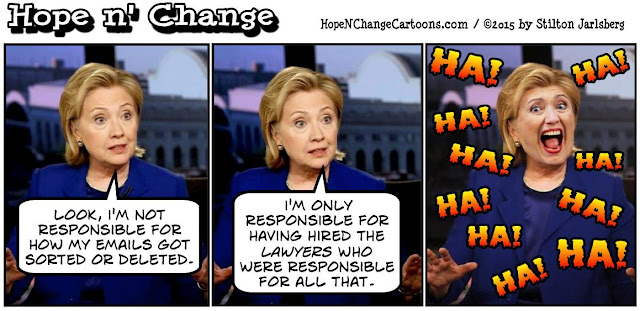 obama, obama jokes, political, humor, cartoon, conservative, hope n' change, hope and change, stilton jarlsberg, hillary, email, server, lawyers, foundation, clinton