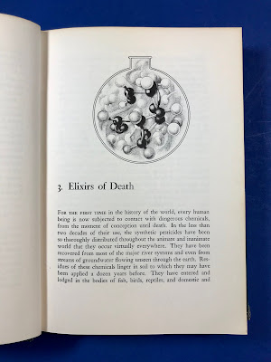 "Chapter 3 ""Elixirs of Death"" opening page, with an illustration of a cluster of chemical bonds."