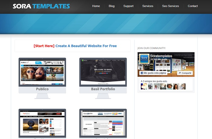 Plantillas para blogger gratis Sora Templates