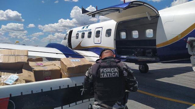 Quatro são presos com cocaína em aeronave interceptada no Sertão do Estado