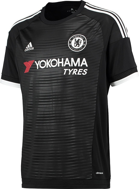 4057bcdd6 Whereas the Chelsea logo was recolored to fit the black-and-white scheme of  the Chelsea 2015-16 Third Shirt, the Yokohama logo adds a splash of red to  the ...