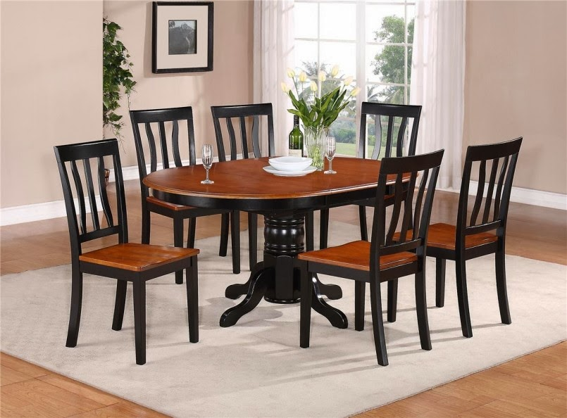 Oval Dining Table Laminate Floor Modern Kitchen Table Sets