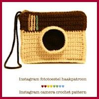 Cámara de Instagram amigurumi