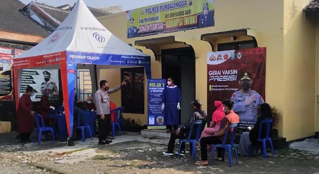 Polsek Bobotsari menyediakan Vaksinasi Gratis Untuk Masyarakat Umum