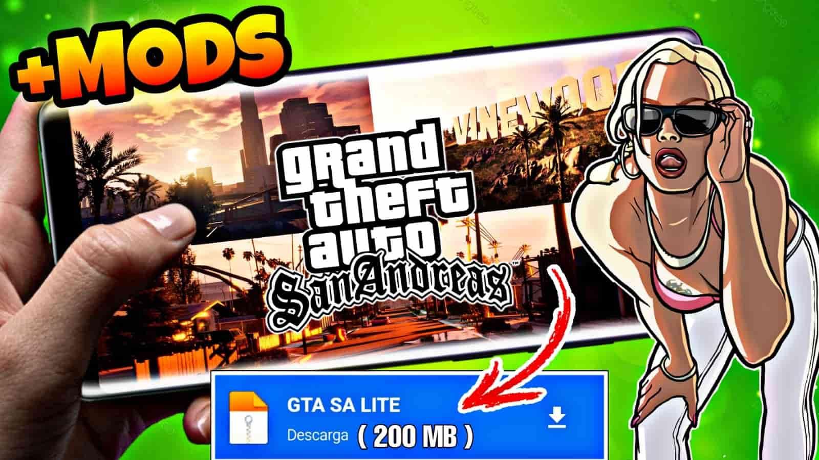 DESCARGA GTA San Andreas LITE +CLEO MODS [200 MB] Para Cualquier Android 2021🔥