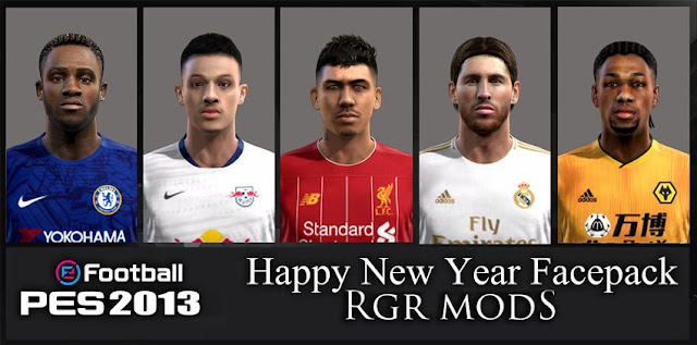 Happy New Year Facepack PES 2013