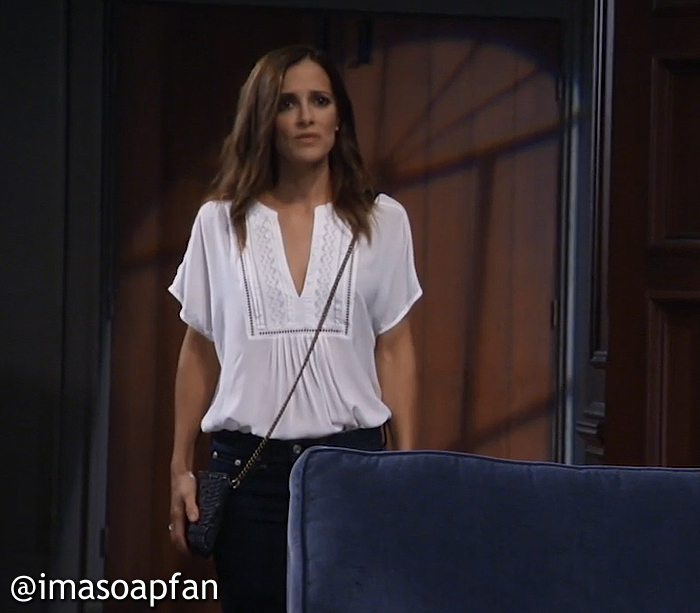 Hayden Barnes's Embroidered White Top - General Hospital, Season 54, Episode 08/26/16
