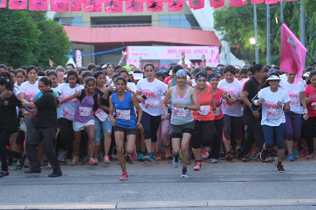 Pinkathon Delhi 2016 inspiring partners Bajaj Electricals Successfully completes its Fourth edition run in DELHI with more than 9,000 Women participants