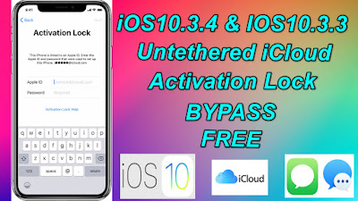 iOS10.3.4-10.3.3 Untethered iCloud Actiavtion Lock Bypass Fix Notification-iCloud Service & Apps.